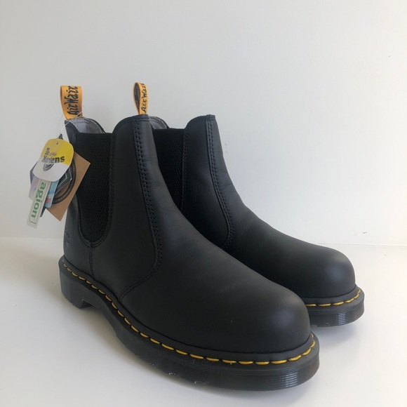 dr martens steel toe chelsea boots